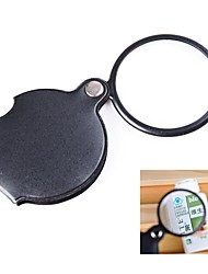 cheap -Pocket 6X Coating Optical Lens Magnifier with Rotatable PU Leather Cover