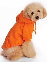 Cachorro Camisola com Capuz Roupas para Cães Sólido Preto Laranja Cinzento Vermelho Ocasiões Especiais Para animais de estimação