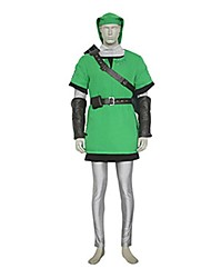 cheap -Inspired by The Legend of Zelda Link Video Game Cosplay Costumes Cosplay Suits Patchwork Green Vest / Top / Pants / Belt
