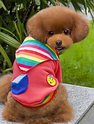 Cani T-shirt Rosa Abbigliamento per cani Inverno Cuori Cosplay