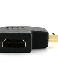 HDMI Female to Male 90 Degree Vertical Flat Left Adapter Connector