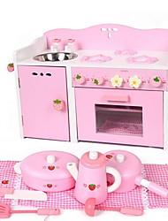 Недорогие -деревянные розовый кухонная плита, что спектакли игрушку