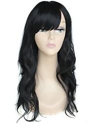 cheap -long high quality big wave female elegant fashion synthetic celebrity black wig
