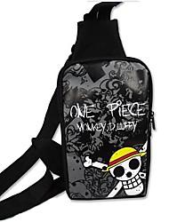 Bolsa Inspirado por One Piece Fantasias Anime Acessórios de Cosplay Bolsa Preto Tela Masculino / Feminino