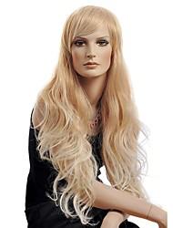 parrucca di lunghi capelli ricci dorati di alta qualità