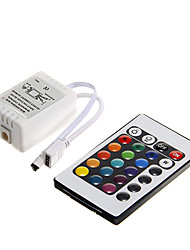 Z®ZDM 6A 72W IR 24-key RGB LED Remote Controller for RGB LED Light Strip (DC12V)