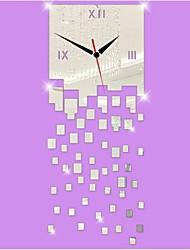 Недорогие -3D DIY современный стиль новая акриловая нерегулярные squaremirror настенные часы