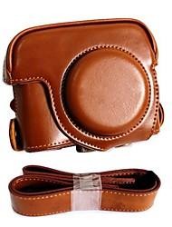 pajiatu® pu caso protetor de couro da câmera retro com porta de carregamento para Canon PowerShot G16