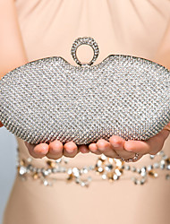 cheap -Women's Bags Metal Evening Bag Crystal / Rhinestone Gold / Black / Silver / Wedding Bags