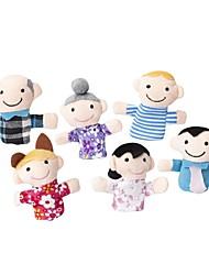 Недорогие -6pcs семья Charactor пальцем кукольный мягкая игрушка