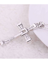 cs style occidental de croix de collier pendentif