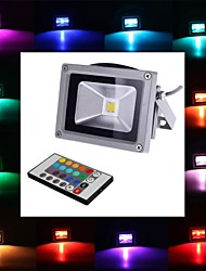 cheap -4W 450-700 lm LED Floodlight 1 leds Integrate LED Remote-Controlled RGB AC 85-265V