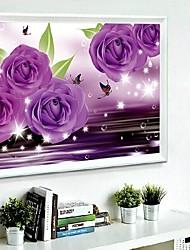 tentures murales bricolage décoration murale, fantacy violet romantique 3d diamant de résine peinture sur toile art mural décor