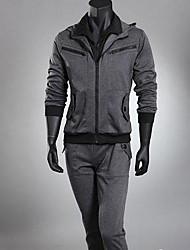 billige -Herre Sport Langærmet Aktiv beklædning sæt - Ensfarvet