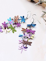 cheap -Drop Earrings Copper Alloy Fashion Blue Rainbow Jewelry Party Daily Casual