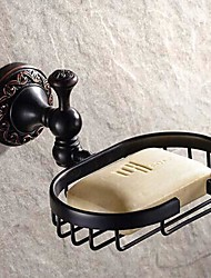 """billige -Sæbeskål Olieret bronze Vægmonteret 150 x 82x 66mm (5.9 x 3.22x 2.59"""") Messing / Keramik Antik"""