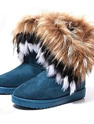 Žene Cipele Umjetna koža Zima Jesen Ravna potpetica 20.32 cm-25.4 cm Čizme do pola lista za Kauzalni Ured i karijera Crna Žuta Zelena