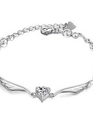 cs de style coréen des ailes d'ange cristal de zircon bracelet de haute qualité