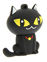 abordables -dibujos animados 32gb zp55 gato negro usb 2.0 flash drive