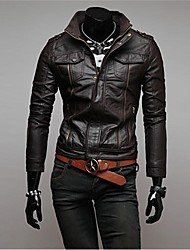 Недорогие -BEILUN мужской стенд воротник моды случайные карман на молнии плеча доска тонкий велосипед куртка о