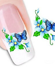 Water Transfer  Printing  Nail Stickers XF1058
