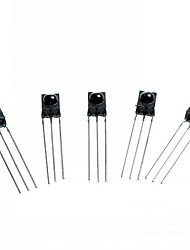 cheap -DIY 3-Pin Infrared IR Receiver - Black (5PCS)