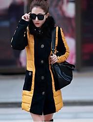 baratos -Mulheres Moda de Rua Acolchoado - Estilo Moderno, Estampa Colorida