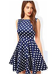 Melos kvinders rund hals bolden kjole prikker kjole
