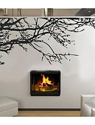 zooyoo®fashion materail Vinile smontabile e nero albero di colore autoadesivo della parete ramo decorazione della casa della decalcomania