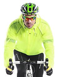 abordables -Mysenlan Homme Veste de Cyclisme Vélo Imperméable / Veste / Hauts / Top Garder au chaud, Séchage rapide, Pare-vent Couleur Pleine Blanc /