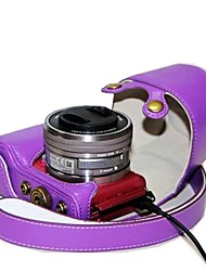 couro dengpin® estilo de carregamento câmera destacável da tampa do caso saco para Sony Alpha A5000 a5100 ILCE-5100l NEX-3N