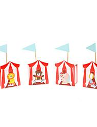 Недорогие -красные цирковые животные дизайн свадьбы пользу бокс-сет из 12