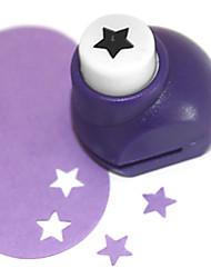 outil de coupe bricolage modèle de pentagramme métal mini poinçon (couleur aléatoire)