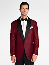 Недорогие -красный полиэстер с учетом нужным куртка