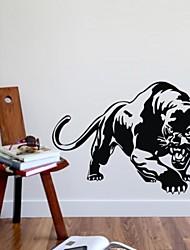 decalcomanie della parete adesivi murali, adesivi murali leopardo jaguar pvc
