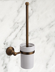 cheap -1pc High Quality Antique Brass Toilet Brush Holder