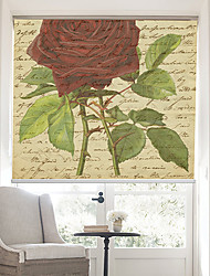 cheap -Retro Words Page With Rose Blossoms Background Roller Shade