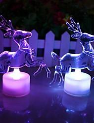 baratos -coway acrílico renas de Natal colorido noturna levou