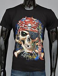Informell / Business Rund - Kurzarm - MEN - T-Shirts ( Baumwolle / Polyester )