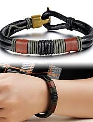 cheap -Creative Fashion Leather Men's Bracelet Jewelry Christmas Gifts