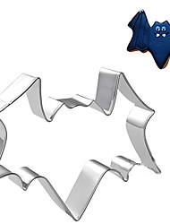 tema de halloween bat cortador forma de galletas, l 7.5cm x Ancho 7 cm xh 2,5 cm, de acero inoxidable
