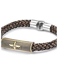 Недорогие -Кожаные браслеты Уникальный дизайн бижутерия Мода Кожа Бижутерия Бижутерия Назначение Повседневные Новогодние подарки