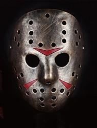 Недорогие -убийца Джейсон смолы маска для Хэллоуина костюм участника (золото&Wihte&коричневый) (1 шт)