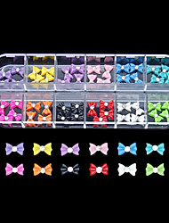 cheap -60PCS 12 Colours Little Bowknot Resin Nail Art Decoration