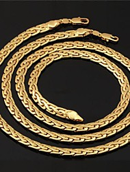 cheap -Gold Plated Jewelry Set Necklace / Bracelets & Bangles - Circle Jewelry Set For Wedding / Party / Daily