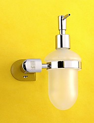 Soap Dispenser / Chrome Brass Glass /Contemporary
