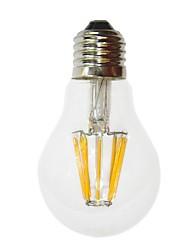 Недорогие -e26 / e27 6w светодиодные лампы накаливания g60 6 cob 450-550 lm теплый белый декоративный AC 220-240 v
