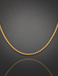 cheap -Silver Plated Gold Plated Chain Necklace - Silver Plated Gold Plated Unique Design Fashion Others Necklace For Wedding Party Gift Daily