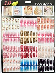 cheap -nail art Full Nail Tips Abstract Classic Cartoon Lovely High Quality Daily