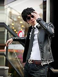 Manwan walk®men móda slim fit pu kožená bunda